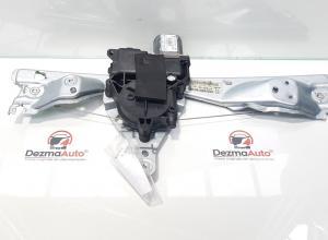 Macara cu motoras stanga spate, Peugeot 308, cod 9659826780, 9659834880 (id:364624)