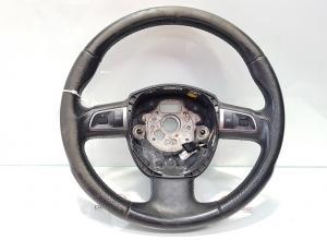 Volan piele cu comenzi, Audi A4 (8K2, B8), cod 8T0419091A (id:372389)