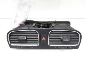 Grila aer bord centrala si buton avarii, cod 5K0819728N, VW Golf 6 (5K1) (id:478530)