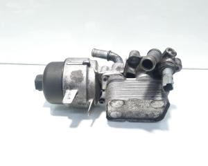 Carcasa filtru ulei cu racitor ulei, cod 9656830180, Peugeot 407, 2.0 HDI, RHR (id:498615)