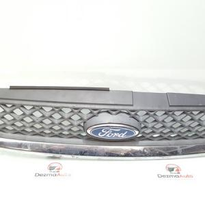 Grila bara fata centrala cu sigla, 6S61-8200-BDW, Ford Fiesta 5 (id:333354)